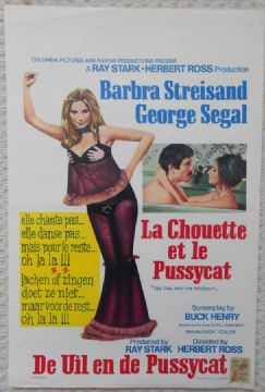 Owl and the Pussycat, Original Belgian Movie Poster, Barbara Streisand '70